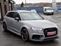 Audi RS3 2.5 Quattro 5dr S Tronic NARDO GREY HUGH SPEC PAN ROOF RED STITCHED BUCKET LEATHER SPORTS EXHAUSTS Hatchback Petrol Grey