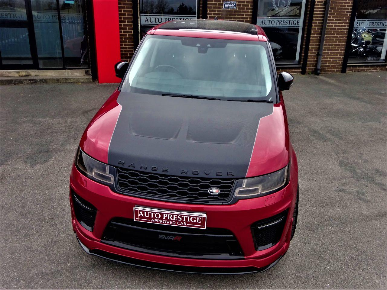 Land Rover Range Rover Sport 3.0 SDV6 HSE SVR STYLING PACK BLACK DIAMOND EDITION LATEST SHAPE LR WARRANTY PAN ROOF DVD TV Estate Diesel Red at Autoprestige Bradford