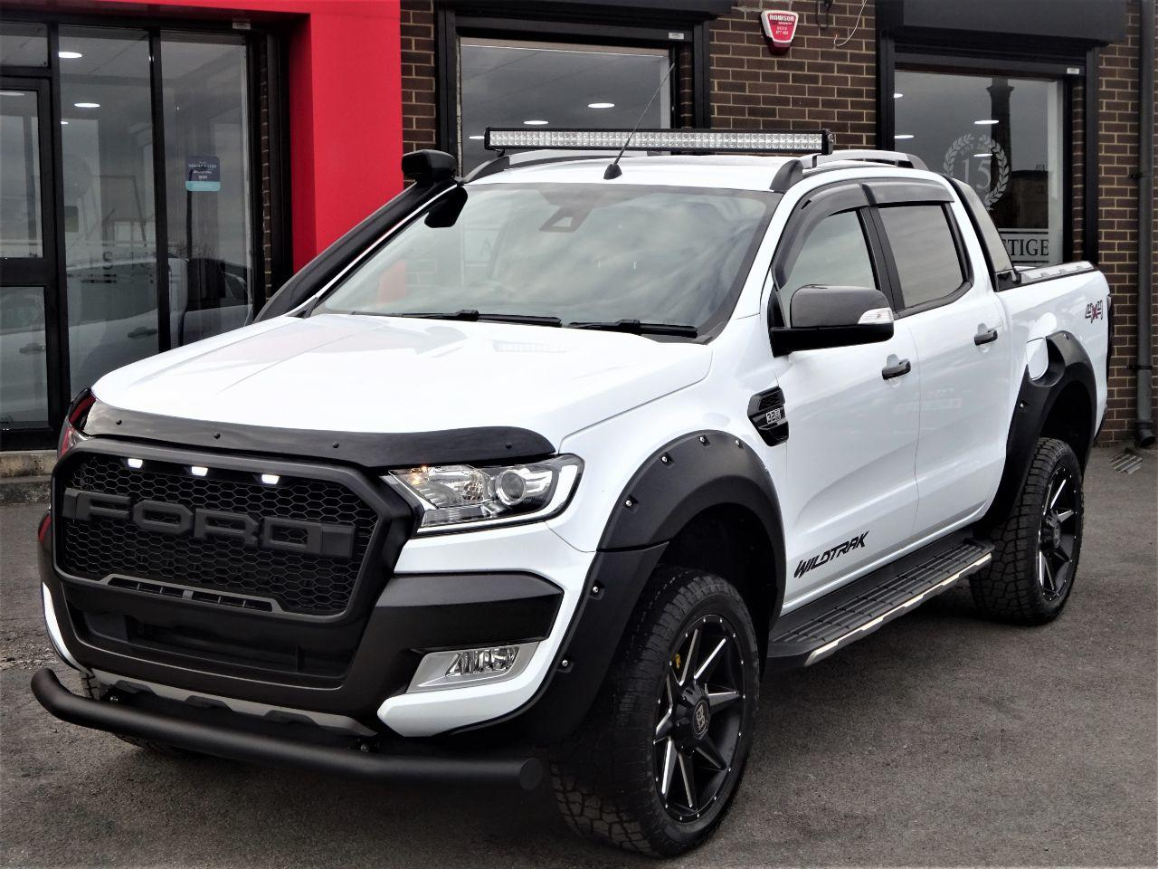 Ford Ranger Pick Up Double Cab Wildtrak 3.2 TDCi 200 Auto ROGUE EDITION +VAT Pick Up Diesel White at Autoprestige Bradford