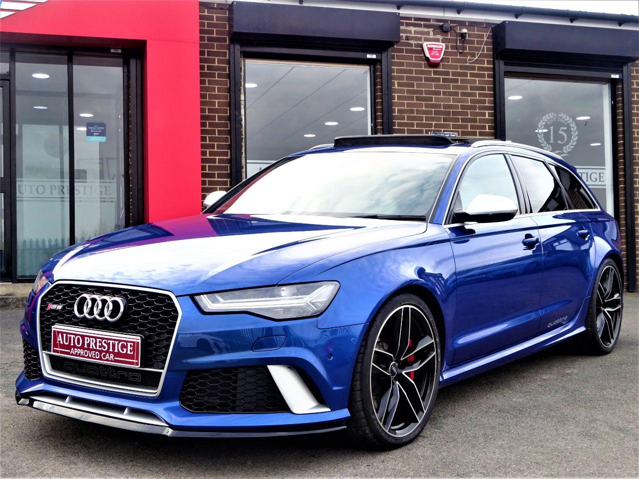 Audi RS6 4.0T FSI Quattro Tip Auto SEPANG BLUE PEARL EFFECT WITH AUDI WARRANTY AND HUGH SPEC Estate Petrol Blue at Autoprestige Bradford