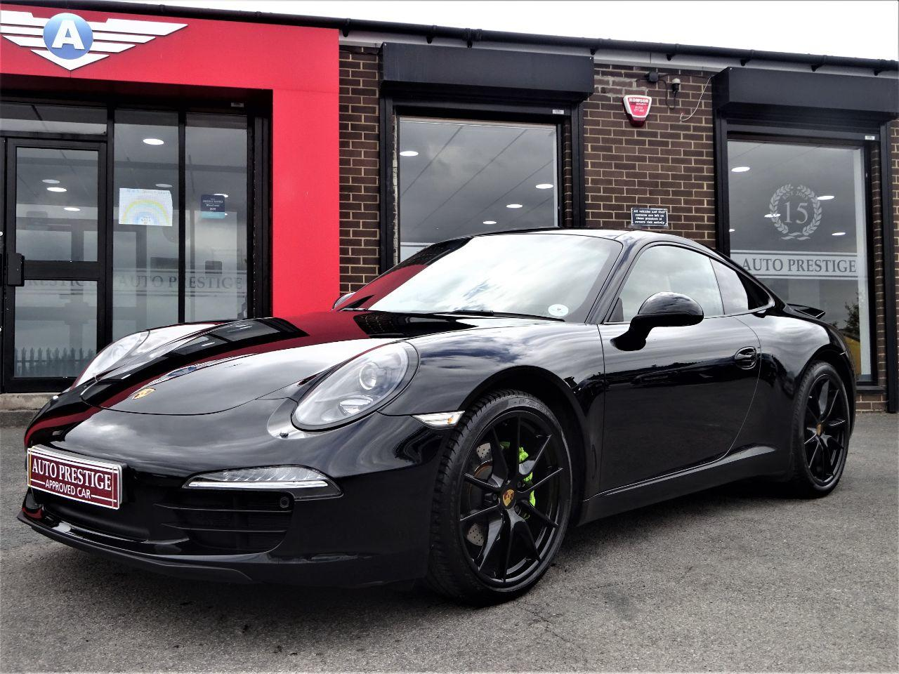 Porsche 911 3.4 991 2dr PDK WITH HUGH SPEC BUCKETS LOW MILEAGE OVER 12K WORTH OF EXTRAS Coupe Petrol Black at Autoprestige Bradford