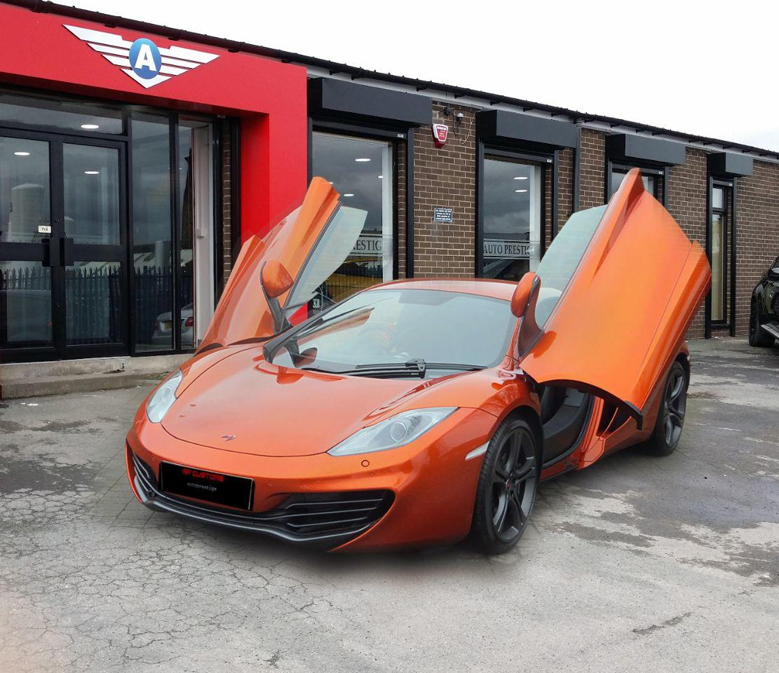 McLaren MP4-12C V8 SPIDER 615 3.8 3DR CARBON EXTRAS Convertible Petrol Volcano Orange at Autoprestige Bradford