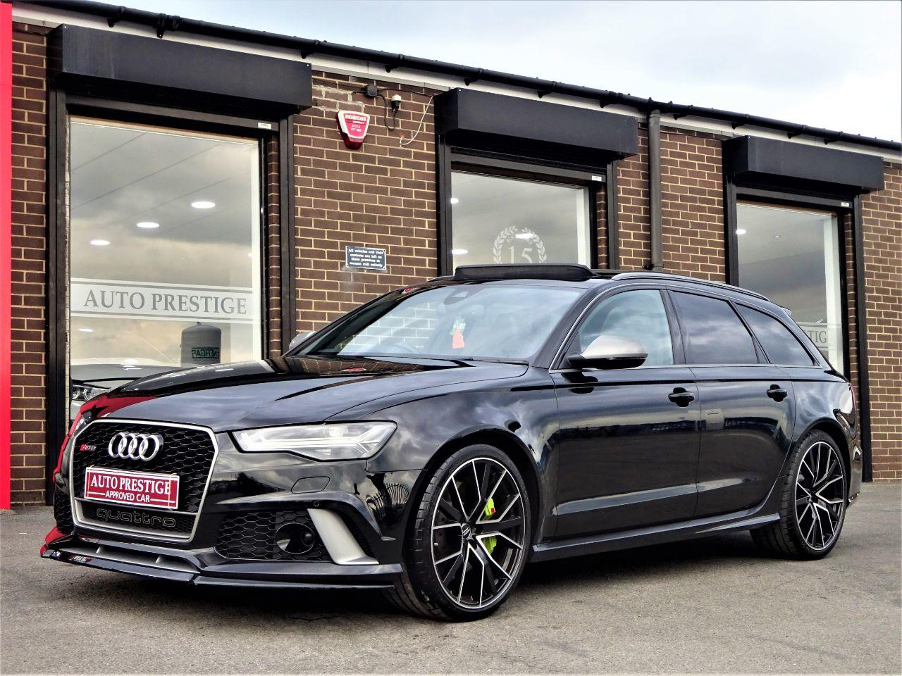 Audi RS6 4.0T FSI Quattro RS 6 Performance 5dr Tip Auto HUGH SPEC WRC PLATE NUMBER FASH PAN ROOF Estate Petrol Black at Autoprestige Bradford