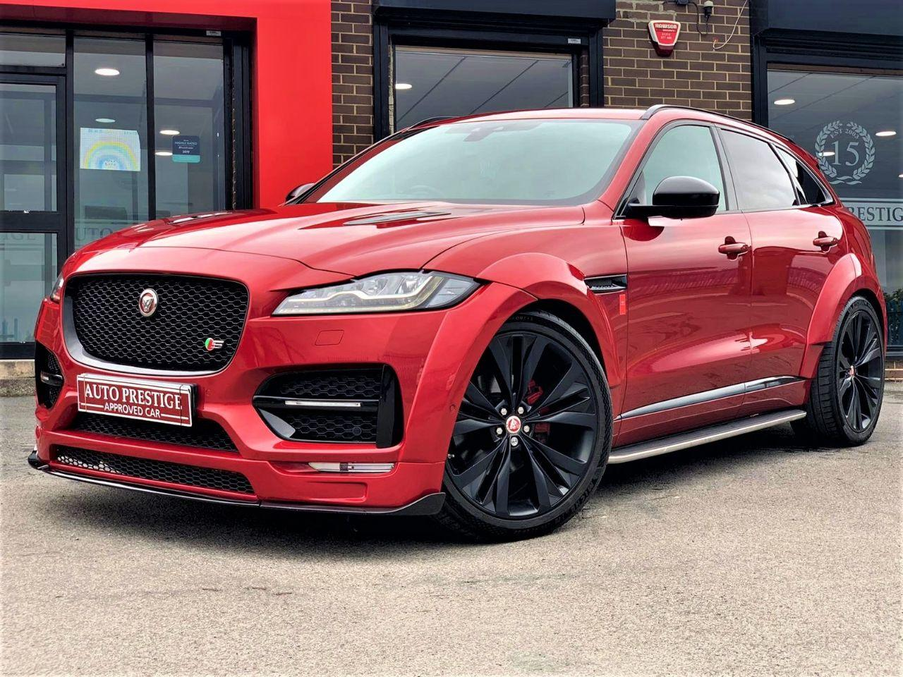 Jaguar F-pace 3.0d V6 S 5dr Auto AWD GTS WIDEBODY HUGH SPEC Four Wheel Drive Diesel Red at Autoprestige Bradford