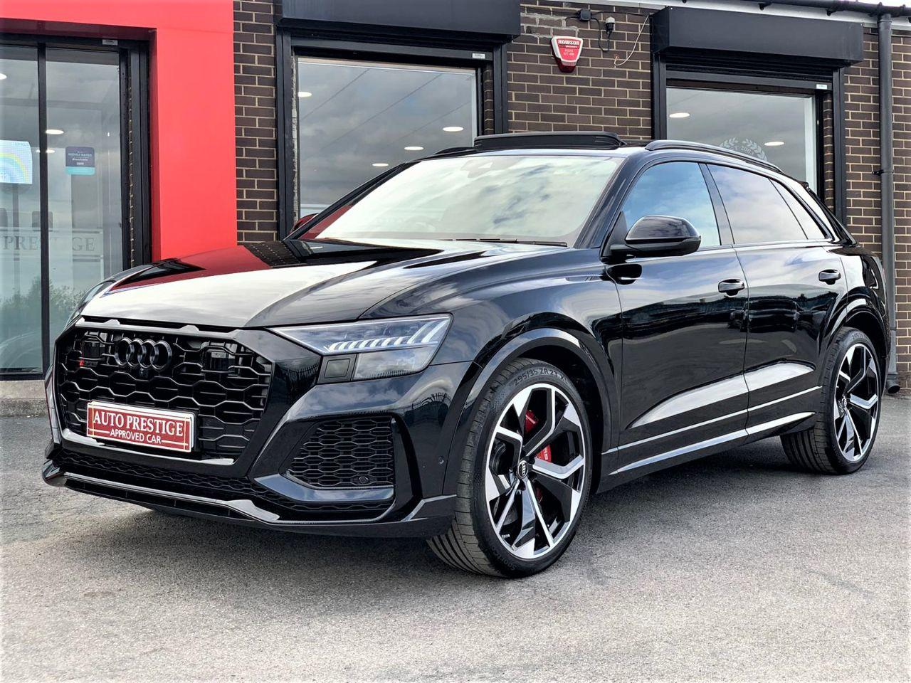 Audi Rs Q8 4.0 RS Q8 TFSI Quattro Vorsprung 5dr Tiptronic RED STITCHED LEATHER AS NEW... Estate Petrol Black at Autoprestige Bradford