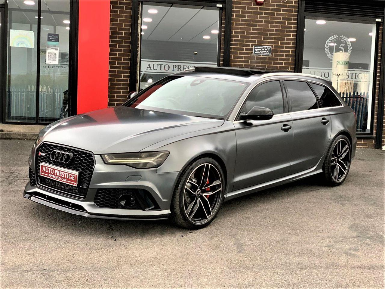 Audi RS6 4.0T FSI Quattro 5dr Tip Auto HUGE SPEC RARE FACTORY MATT GREY PAN ROOF Estate Petrol Grey at Autoprestige Bradford