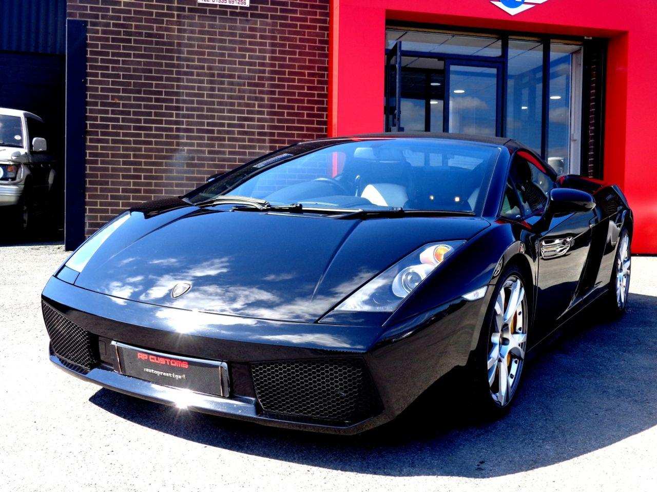 Lamborghini Gallardo 5.0 SPYDER E-GEAR WITH EXTRAS RARE GULLWING DOORS EXTENSIVE HISTORY FILE VERY HIGH SPEC Convertible Petrol Black at Autoprestige Bradford