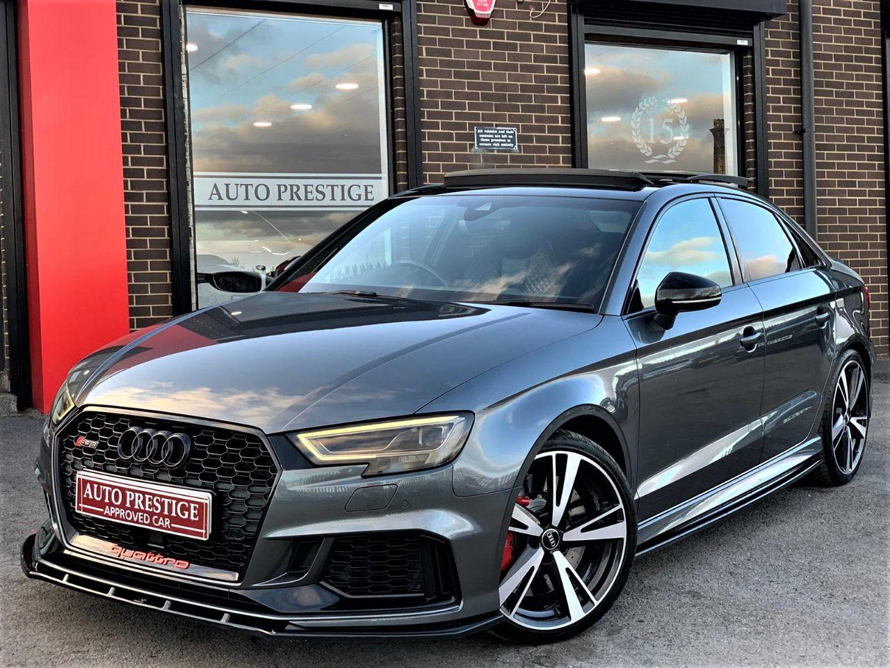 Audi RS3 2.5 Quattro 4dr S Tronic SALOON EVERY CONCEIVABLE EXTRA RARE CAR 67 REG Saloon Petrol Grey at Autoprestige Bradford