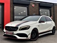 Mercedes-Benz A 45 2.0 AMG 4MATIC AUTO 67 REG HUGE SPECIFICATION CALCITE WHITE AS NEW CONDITION Hatchback Petrol White