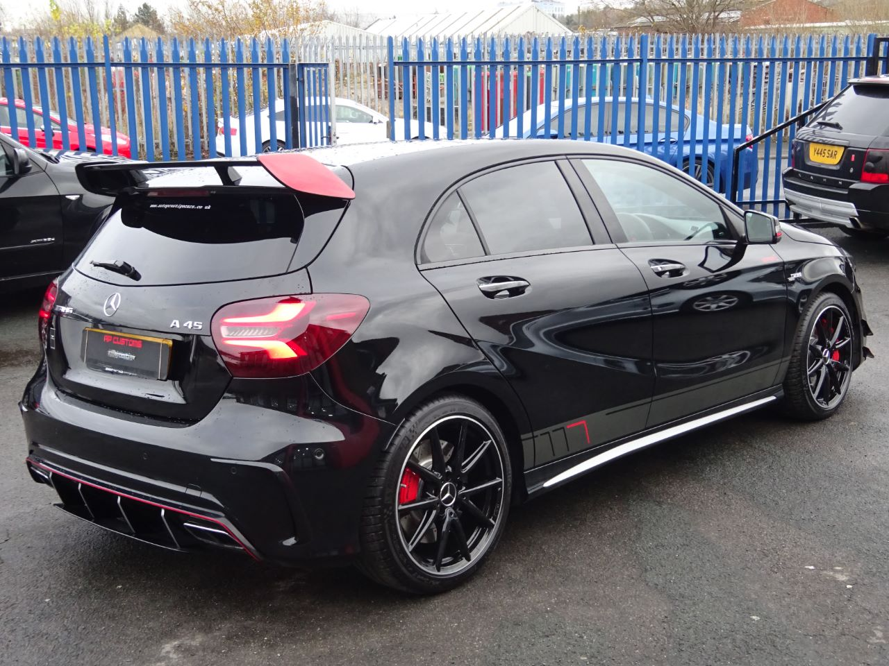 Mercedes-Benz A Class 2.0 A45 4Matic Premium 5dr Auto RARE OBSIDIAN BLACK WITH EXTRAS AS NEW 2016 STEALTH PACK Hatchback Petrol Black