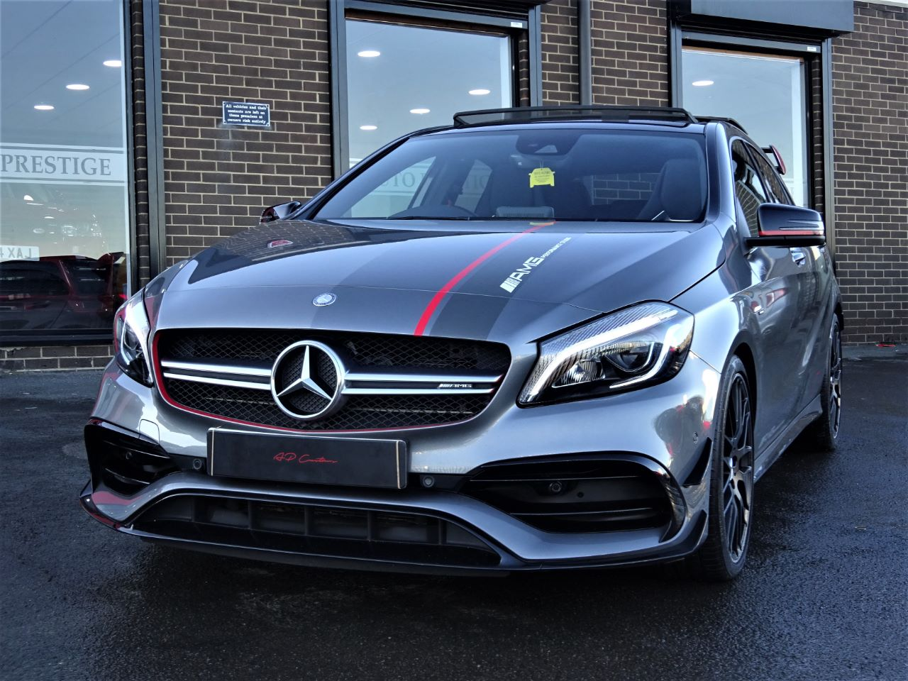 Mercedes-Benz AMG 2.0 A45 AMG PREMIUM PACK WITH RACE MODEL RARE MOUNTAIN GREY FACELIFT 2016 MODEL PAN ROOF MAG RIDE Hatchback Petrol Mountain Grey