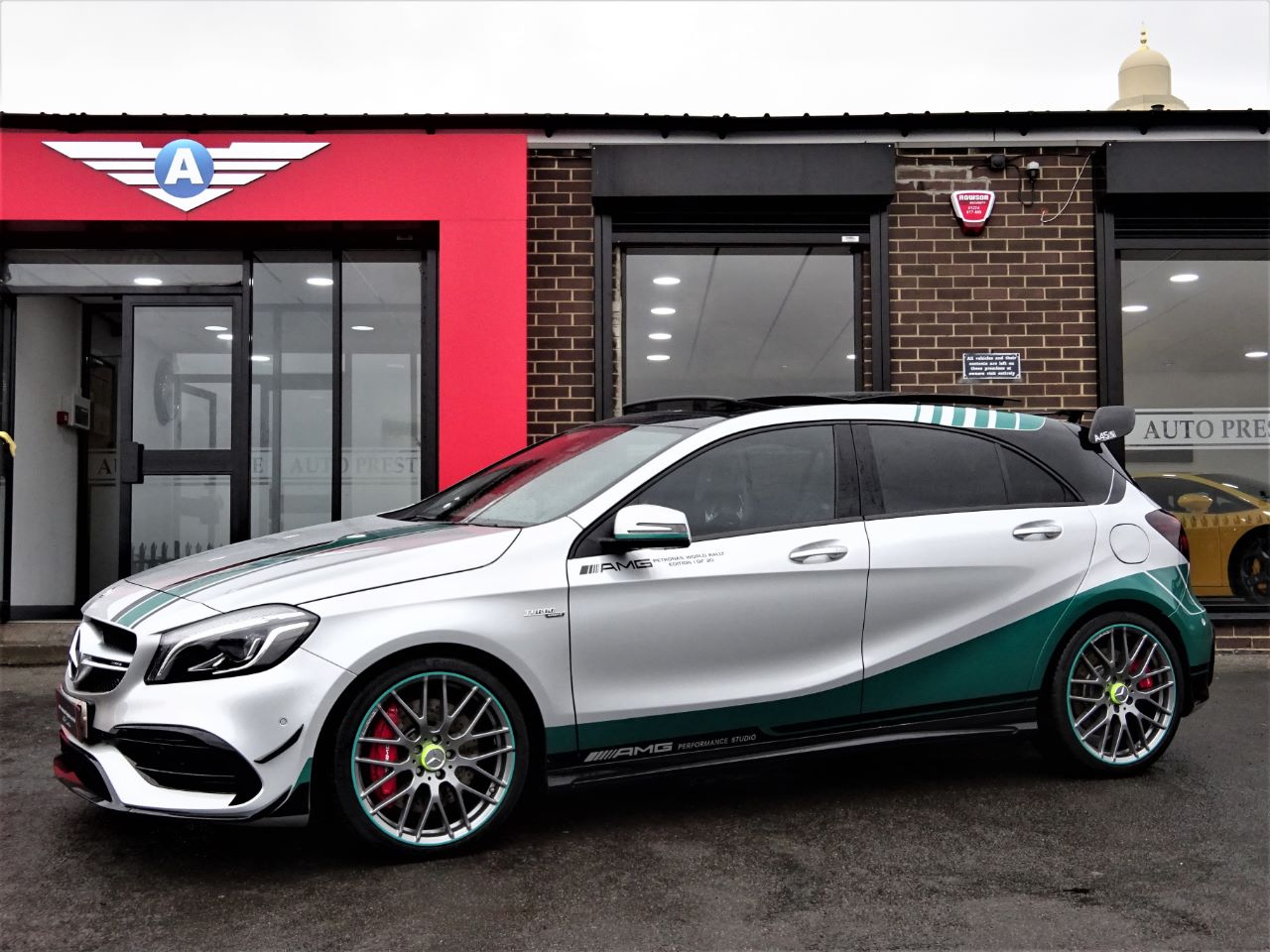 used mercedes benz amg a45 4matic petronas world champion edn 5dr 1 of only 30 lewis hamilton. Black Bedroom Furniture Sets. Home Design Ideas
