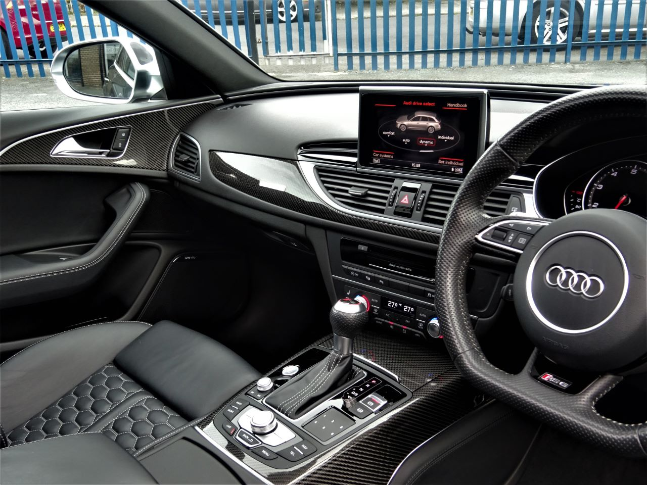 Audi RS6 4.0T FSI V8 Bi-Turbo RS6 Quattro WITH ALL THE EXTRAS WARRANTY RECENT SERVICE TYRES SOFT DOORS 64 REG Estate Petrol Grey