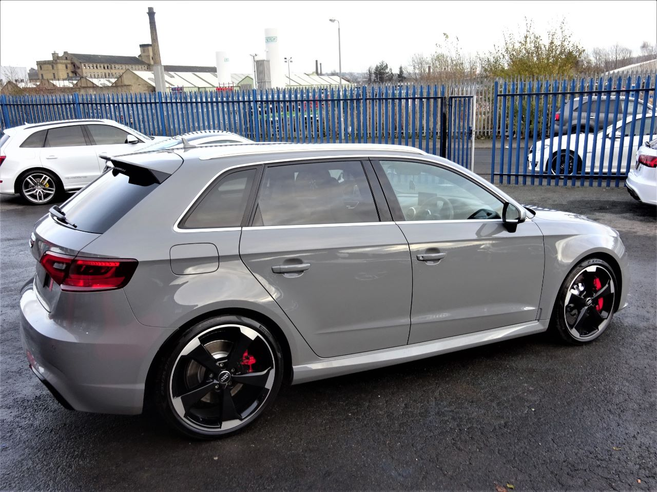 used audi rs3 2 5 tfsi rs 3 quattro 5dr s tronic 65 reg nardo grey high spec just had brake. Black Bedroom Furniture Sets. Home Design Ideas
