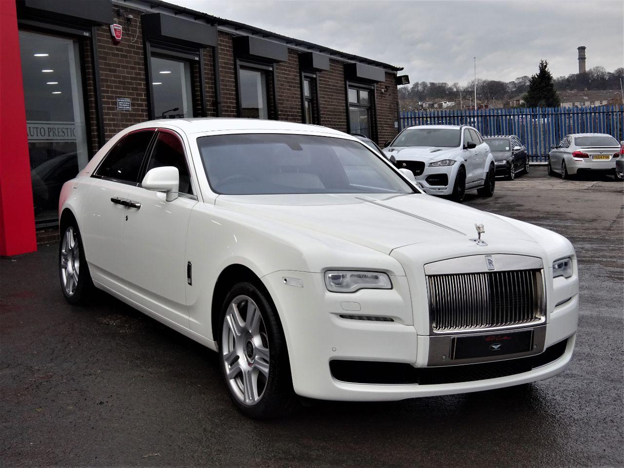 Rolls Royce Ghost 6.6 II 4dr Auto 5 YEAR SERVICE PLAN 4 YEAR WARRANTY AS NEW Saloon Petrol White at Autoprestige Bradford