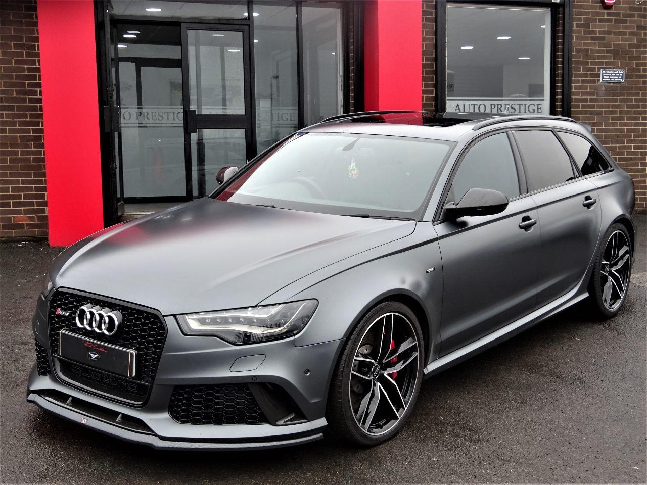 Audi RS6 4.0T FSI V8 Bi-Turbo Quattro 5dr RARE MATT GREY MASSIVE SPECIFICATION CARBON PACK PAN ROOF Estate Petrol Grey at Autoprestige Bradford