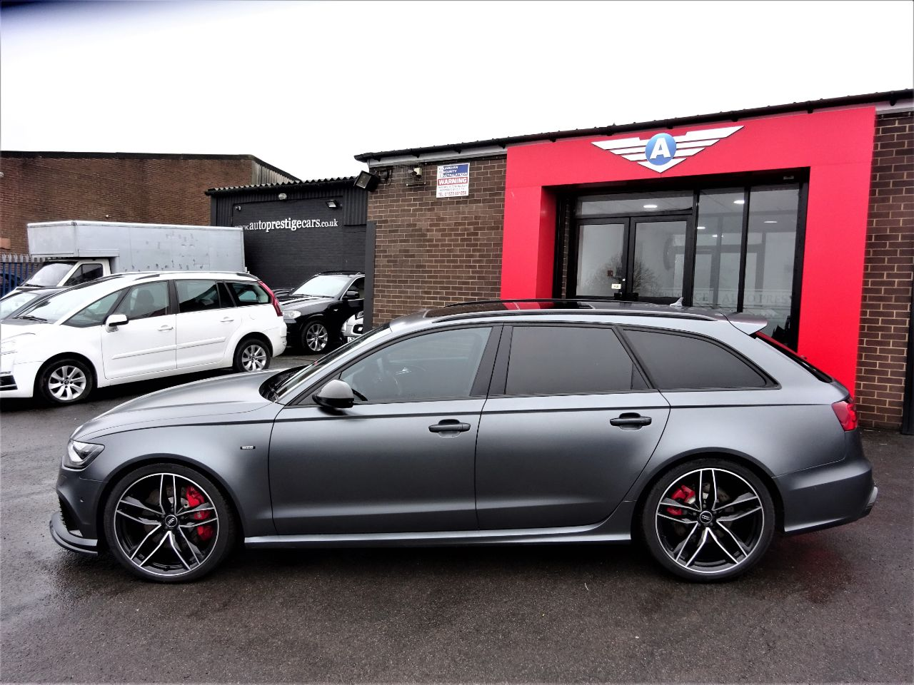 Audi RS6 4.0T FSI V8 Bi-Turbo Quattro 5dr RARE MATT GREY MASSIVE SPECIFICATION CARBON PACK PAN ROOF Estate Petrol Grey