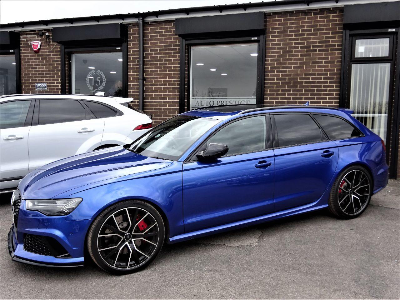 Audi RS6 4.0T FSI Quattro Performance 5dr Tip Auto 2017 MODEL 66 REG MASSIVE SPEC PAN ROOF SEPANG BLUE Estate Petrol Sepang Blue at Autoprestige Bradford