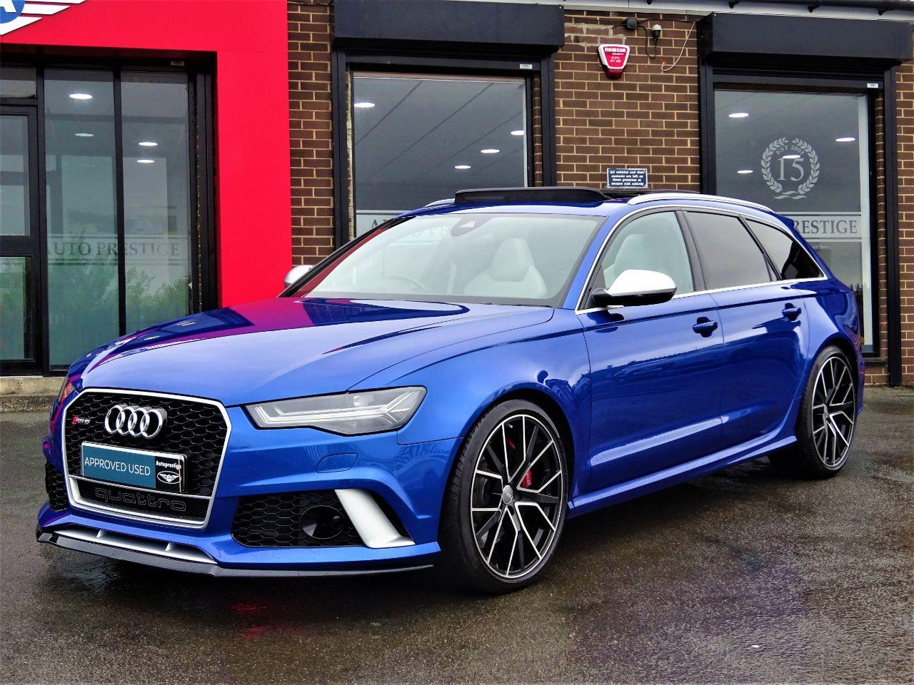 Audi RS6 4.0T FSI Quattro RS 6 Performance 5dr Tip Auto JUST LOOK AT THE SPEC NEARLY EVERY EXTRA RARE CAR Estate Petrol Blue at Autoprestige Bradford