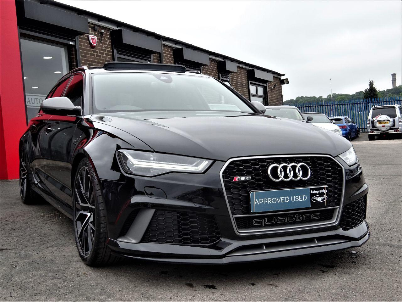 Audi RS6 4.0T FSI Quattro RS 6 Performance 5dr Tip Auto CRYSTAL BLACK BRAND NEW 120 MILES ONLY 67 REG 2018 Estate Petrol Black at Autoprestige Bradford