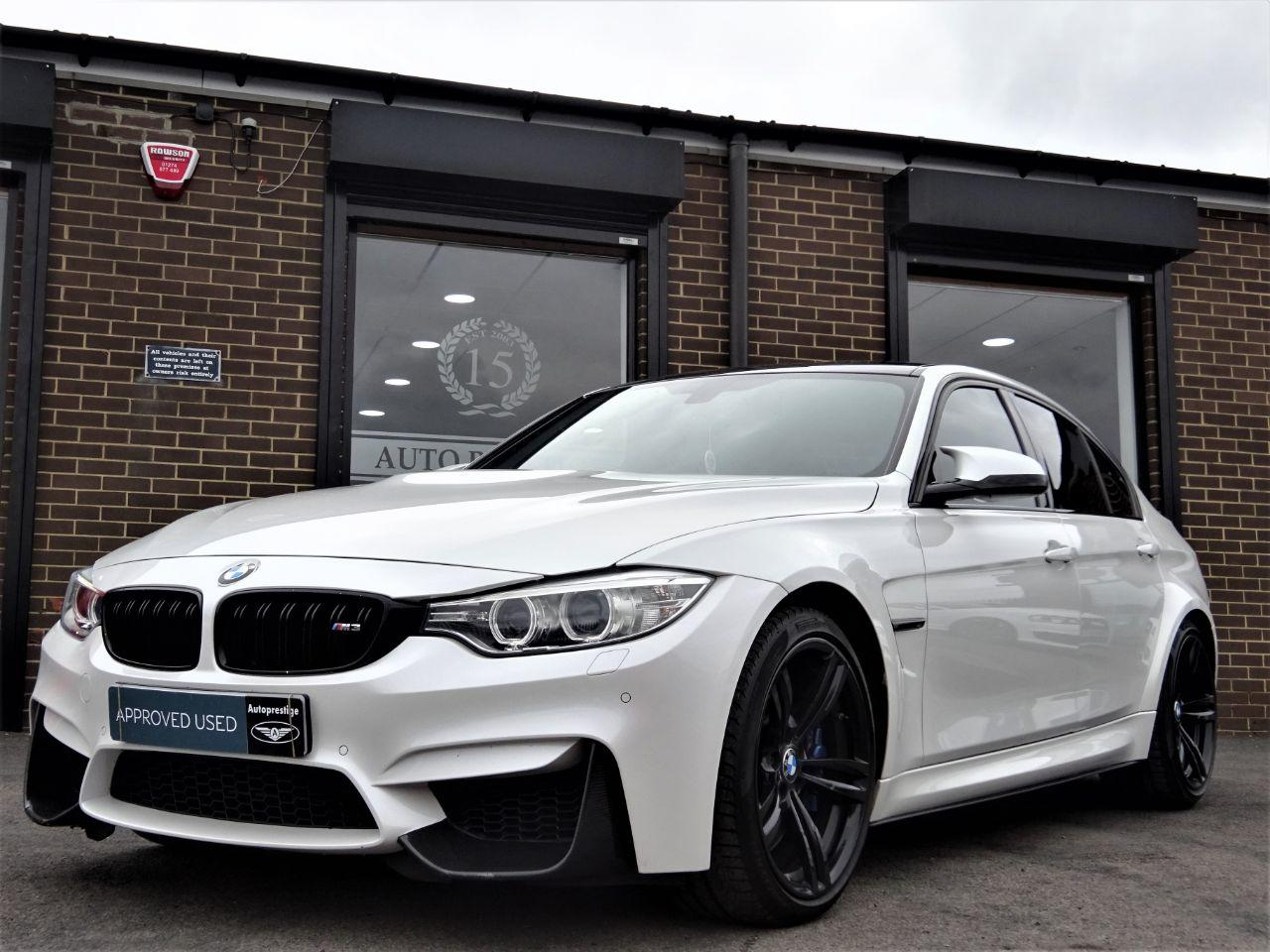 BMW M3 3.0 4dr DCT WITH EXTRAS MINERAL WHITE Saloon Petrol White at Autoprestige Bradford