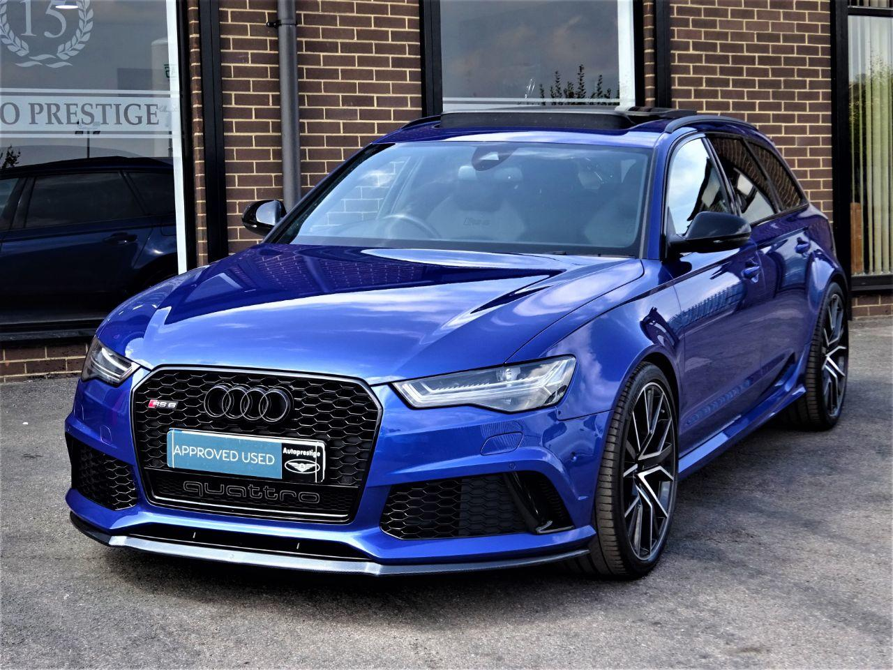 Audi RS6 4.0T FSI Quattro RS 6 Performance 5dr Tip Auto MASSIVE SPEC MANY EXTRAS 1 OWNER Estate Petrol Blue at Autoprestige Bradford
