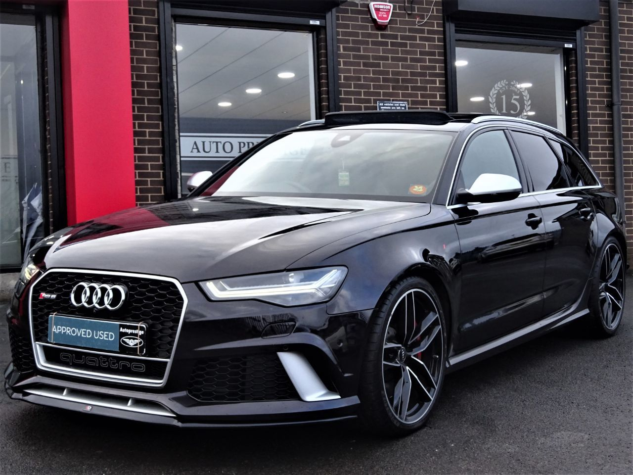 Audi RS6 4.0T FSI Quattro Tip Auto MASSIVE SPECIFICATION 66 REG VERY LOW MILEAGE FROM NEW Estate Petrol Black at Autoprestige Bradford