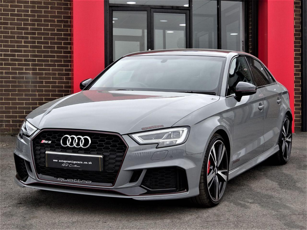 Audi RS3 2.5 TFSI Quattro 4dr S Tronic WITH MASSIVE SPEC OVER 50K NEW LAST RETIRED OWNER NARDO GREY Saloon Petrol Grey at Autoprestige Bradford