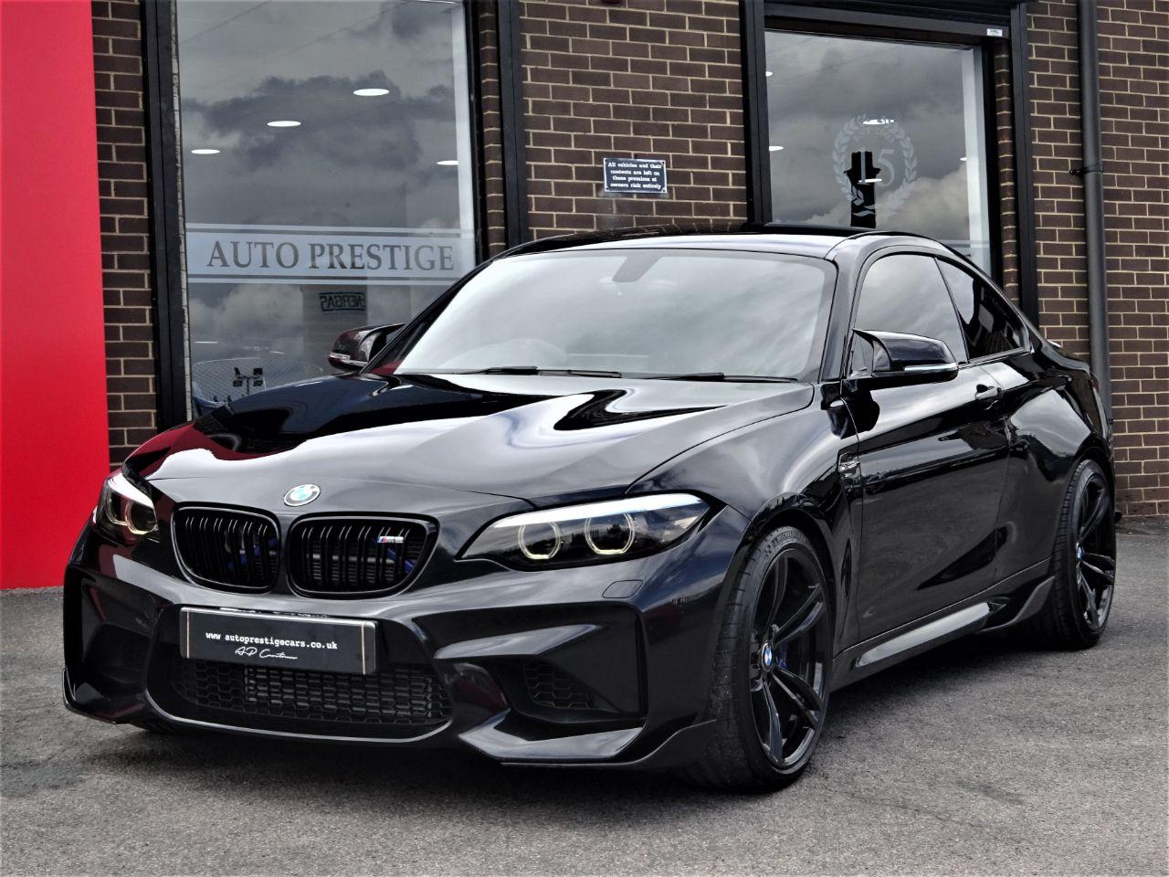 BMW M2 3.0 M2 2dr DCT WITH HUGH SPEC 67 REG CARBON PACK AND EXHAUSTS SHOW CAR SPEC Coupe Petrol Black at Autoprestige Bradford