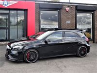 Mercedes-Benz A Class 2.0 A45 4Matic Premium 5dr Auto WITH EXTRAS AND EXTENDED WARRANTY Hatchback Petrol Black
