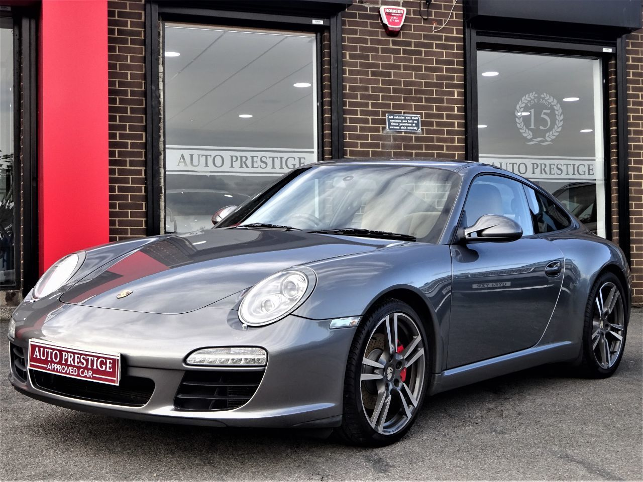 Porsche 911 3.8 S 2dr PDK WITH EXTRAS 60 REG METALLIC GREY Coupe Petrol Grey at Autoprestige Bradford