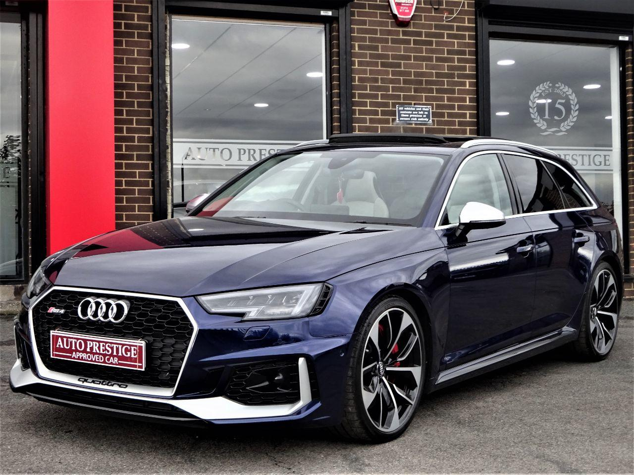 Audi RS4 2.9 TFSI Quattro HUGH SPECIFICATION PAN ROOF BANG OLUFSEN BUCKETS 360 CAMERAS ADAPTIVE CRUISE Estate Petrol Blue at Autoprestige Bradford