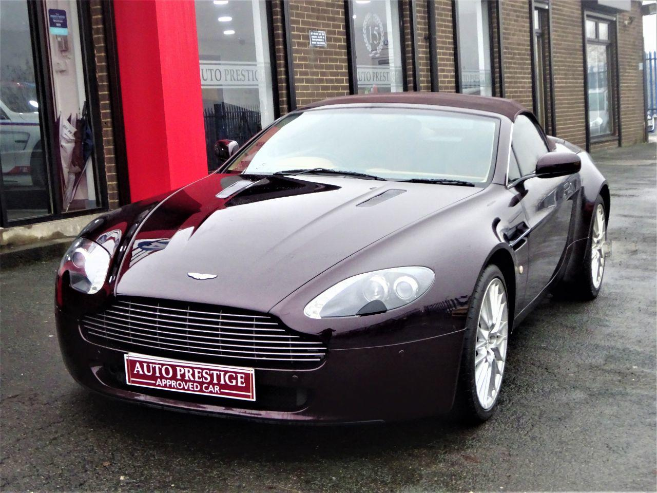 Aston Martin V8 Vantage 4.7 VANTAGE LOW MILEAGE ROADSTER CONVERTIBLE Convertible Petrol Red at Autoprestige Bradford