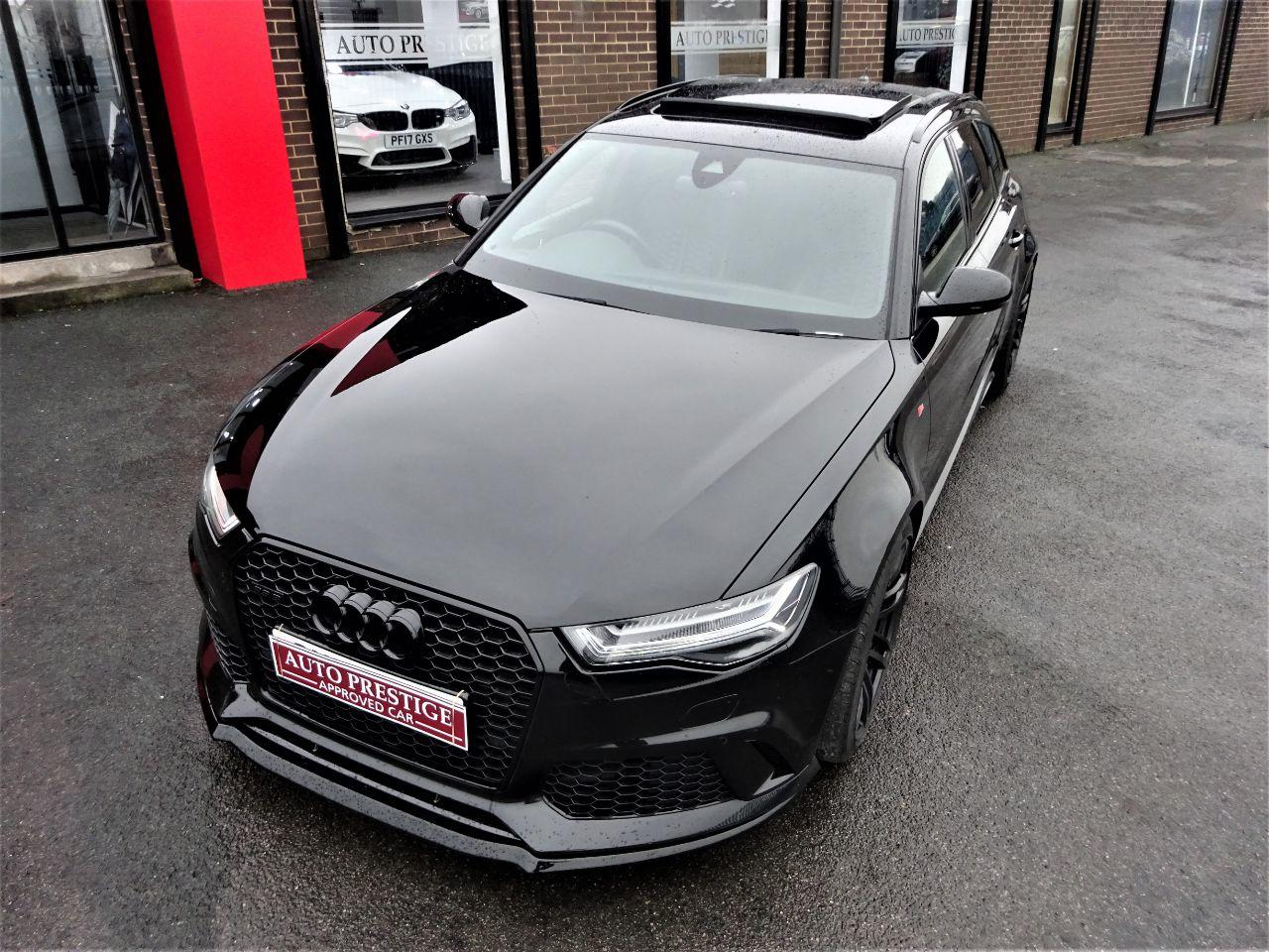 Audi RS6 4.0T FSI Quattro 5dr Tip Auto LOW MILEAGE 2 OWNERS PAN ROOF STEALTH PACK Estate Petrol Black at Autoprestige Bradford